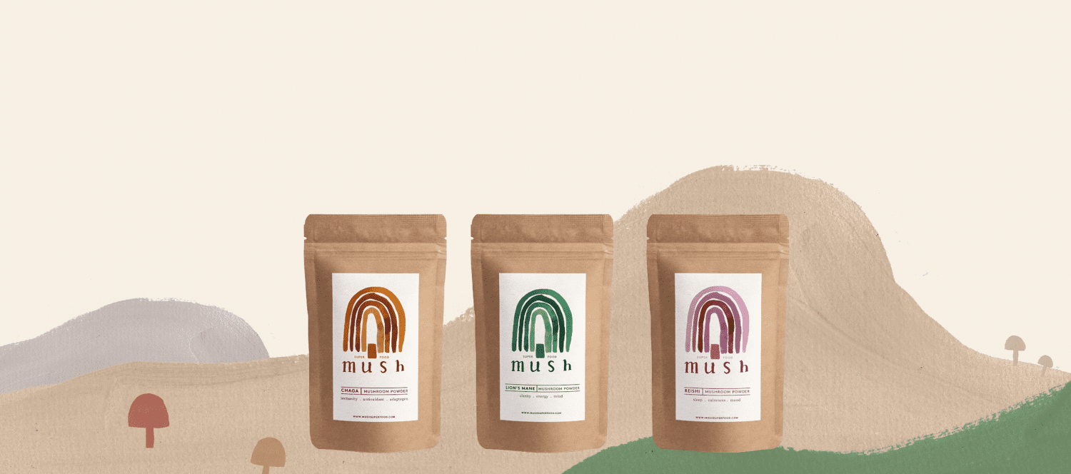 Mush superfood mushroom powders
